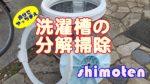 【洗濯槽の裏側はカビだらけだ】洗濯機から取り出して分解掃除するしかない